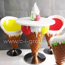 Cone Chair Ice Cream Furniture Fiberglass Ice Cream Cone Chair And Table