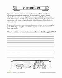 mercantilism worksheet education com