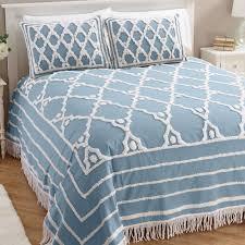 fingerhut alcove trellis chenille bedspread queen