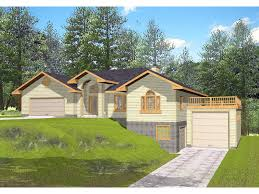 multi level home plans frontage rustic home plan 088d 0078 house plans and more