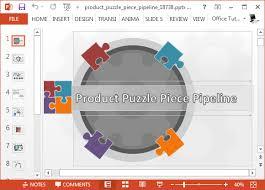 template animated produto pipeline powerpoint