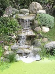 Tiered Backyard Landscaping Ideas Backyard Waterfall Pics Home Outdoor Decoration