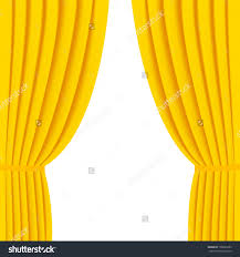 Yellow Curtain Gold Curtain Background Stock Vector Illustration Save To A
