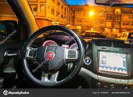 fiat freemont 2017 interior of fiat freemont suv car stock editorial photo