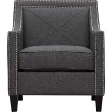 Asheville Armchair Dark Grey TOV Furniture Modern Manhattan - Furniture asheville