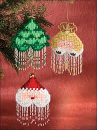 plastic canvas beaded christmas ornaments ep00336