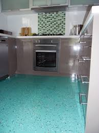 dalsouple terrazzo rubber flooring in a kitchen in coburg