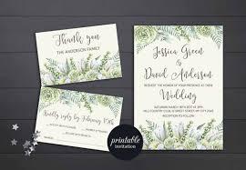 winter wedding invitations greenery wedding invitation printable floral wedding