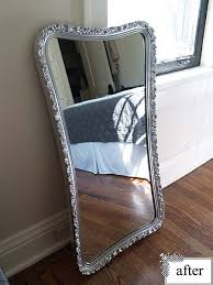 How To Spray Metallic Paint - before and after mirror spray painting silver spray paint and