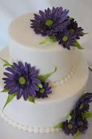 Wedding Cake Gum Purple Daisy Cake Buttercream Cake With Gum Paste Daisy Flowers