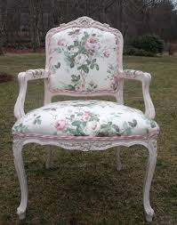 Paint Shabby Chic Furniture by Shabby Chic Bergere Chair In Pink Chintz And Chalk Paint Shabby