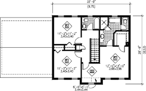 colonial floor plans colonial style house plan 3 beds 2 00 baths 1700 sq ft plan 25 4166