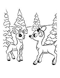 free coloring page deer