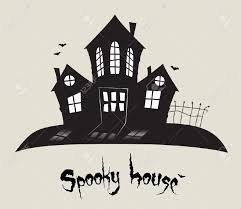 scary spooky house halloween theme royalty free cliparts vectors
