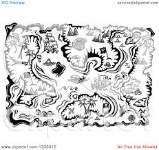 treasure map black and white clipart china cps