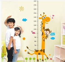 removable height chart measure wall sticker decal for kids baby picture 1 of 5