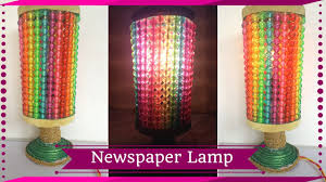diy newspaper night lamp how to make lamp out of newspaper