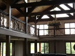 rustic balcony railing deck railing mountain laurel handrails