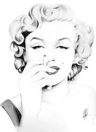 Marilyn Monroe Art Vintage Art Marilyn Monroe Sketch Inspiration Vintage