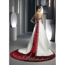 Red And White Wedding Dresses White And Red Wedding Dresses Wedding Dress Styles