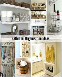 Storage Idea For Small Bathroom by Bathroom Organization Tips The Idea Room