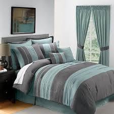 Green King Size Comforter 8pc King Size Blue Gray Pintucked Comforter Set Bedding
