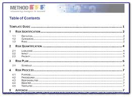risk management templates from method 123 u2013 project management