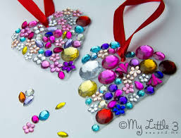 gorgeous jewelled heart suncatchers milk bottles catcher and