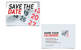 save the date template save the date note card template design