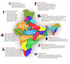 India Language Map by Study In India For Global Higher Education Courses
