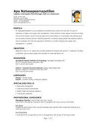 objective in resume for computer science objective logistics resume objective template logistics resume objective with images large size