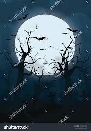 halloween design background spooky graveyard stock vector