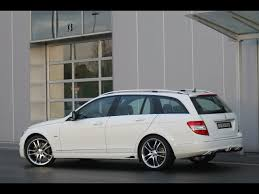 mercedes c class station wagon 2008 brabus mercedes c class station wagon side angle
