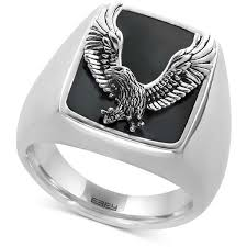 mens silver rings best 25 mens onyx rings ideas on silver mens