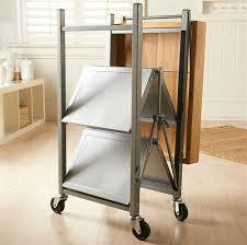 folding kitchen island cart origami butcher block kitchen cart