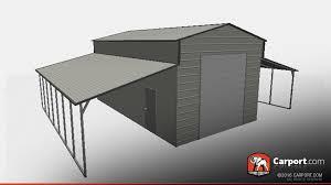 top quality ridgeline style metal barn garage carport com metal