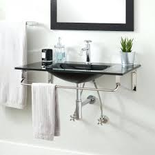 metal wall mount sink small wall mounted bathroom sinks glass wall hung sink black small
