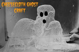 halloween ghost crafts cheesecloth ghost craft mamaguru
