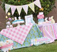 Large Outdoor Easter Decorations by Such Pretty Colors And Fabrics Use In This Easter Party Display