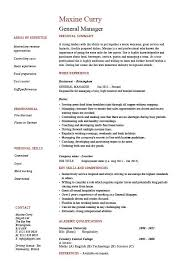 Example Of Cover Letter For A Resume by General Manager Resume Cv Example Job Description Sample