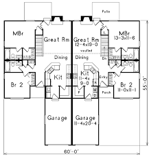 Multi Family Homes Floor Plans Multi Family Plan 87352 At Familyhomeplans Com