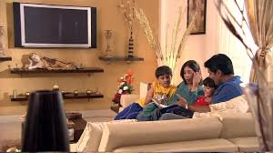 Family  Reading  Living Room  India HD Stock Video Footage