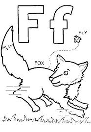 f is for fox coloring page many interesting cliparts