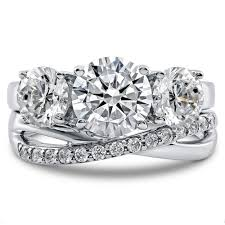 zirconia stone rings images Sterling silver round cubic zirconia cz 3 stone criss cross jpg