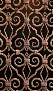 antique wrought iron pattern grill venice royalty free stock