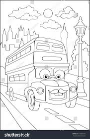 cute hipster car city coloring page stock vector 472082557