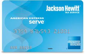 serve prepaid card jackson hewitt tax return early access and prepaid card american