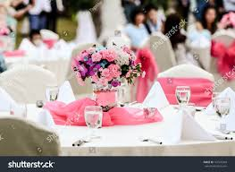 wedding flowers for tables wedding flowers tables set dining stock photo 167576390