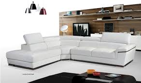 Wayfair Sectionals Living Room Esf Leather Sectional Sofa In White With Left Facing
