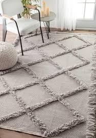long shag rug challenge nuloom shag rug devon diamond trellis tassel from candolim